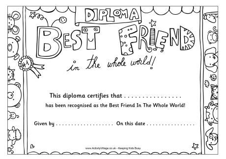 Best Friend Diploma Quote Coloring Pages Coloring Book Pages