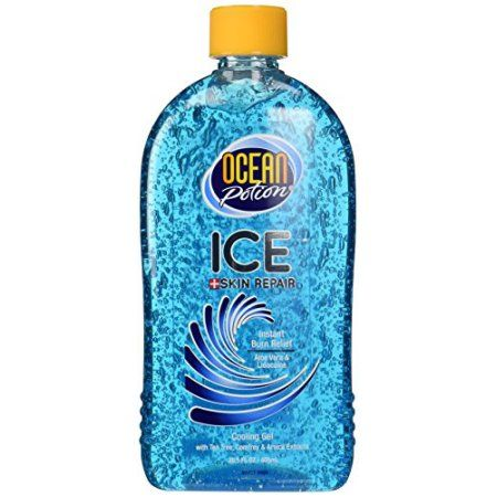 Ocean Potion Ice Skin Repair Aloe Vera Cooling Gel 20 5 Fl Oz Skin Repair How To Tan Faster Gel