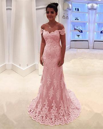 Elegant V Neck Off Shoulder Mermaid Lace Prom Dresses Floor Length Evening Gowns Vestidos Moda Festa Vestido De Festa Madrinha