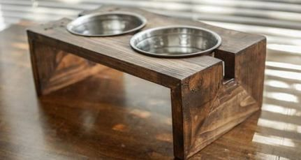 Diy Dog Bowl Stand Small 50 Ideas Dog Food Stands Dog Bowl Stand Dog Food Bowl Stand