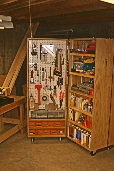 tool cabinet on wheels. My dad made one of these for his workshop ...