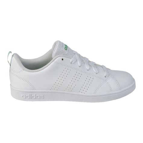 adidas Kids' VS Advantage Clean Shoes WhiteGreen | Adidas