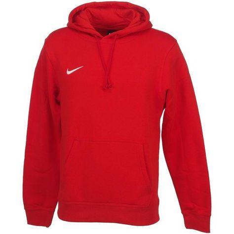 nike hoodie club small logo rouge