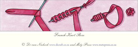 french knot rose tutorial