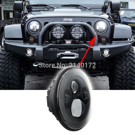 Jeep Jk Headlight Bulb Check Price 7 Inch Led Headlight Bulb Kit