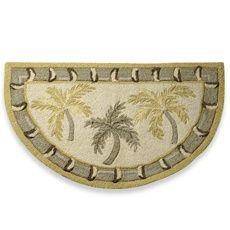 Palm Tree Bath Towels Palm Tree Hook Slice Rug Bed Bath Beyond Tropical Bedrooms Rugs Palm Trees