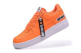 Mens Womens Shoes Nike Air Force 1 Low Just Do It Total Orange