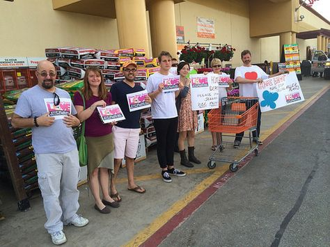 Voices in LA are united in urging Home Depot to stop selling bee-killing pesticides. Photo taken by Planet Rehab.