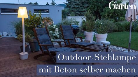Make outdoor floor lamp with concrete yourself- Outdoor-Stehlampe mit Beton selber machen Garden lighting can also be realized as a DIY project. In our video we show you how you can easily make a concrete outdoor floor lamp yourself.