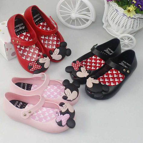 696905ea10ca0 Kids Shoes mini melissa remake Jelly Shoes Cartoon Mickey Minnie mouse  Sandals