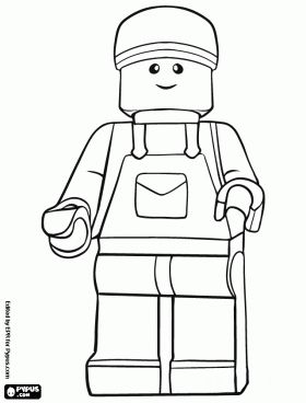 Lego Minifig Coloring Page Coloring Coloring Pages