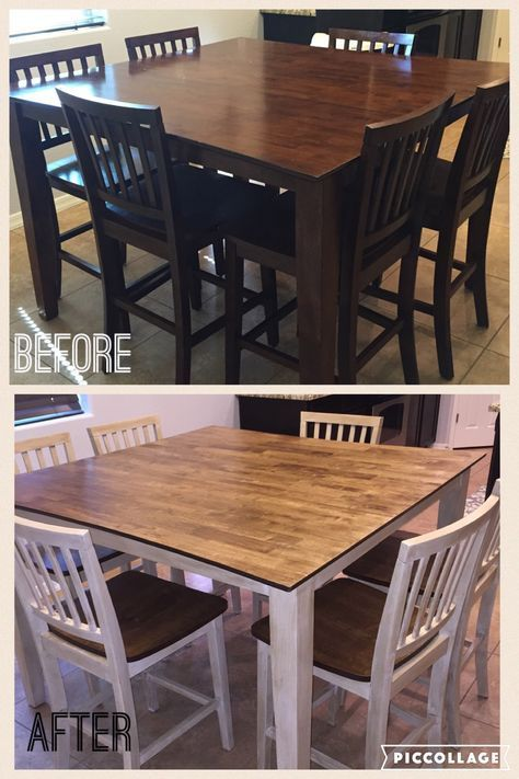 Kitchen Table Refurbished Dining Rooms 52 Ideas In 2020 Refurbished Kitchen Tables Diy Dining Room Table Dining Table Makeover