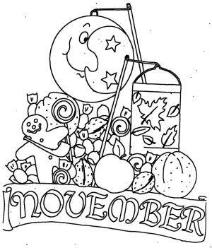 Ausmalbilder November Mit Mond Ausmalbilder Monatsbilder Ausmalen