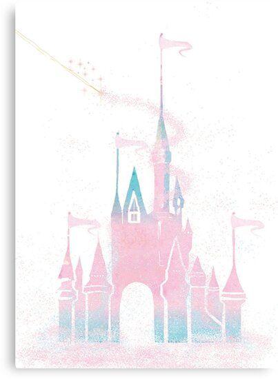 Pink Princess Castle Canvas Print By Digitaldoodlers Canvas Prints Custom Artwork Pink Princess