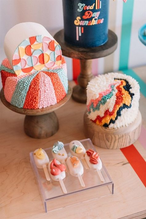 Archive Rentals launches new line of rentals for your littles at Festoon LA! Pretty Cakes, Cute Cakes, Beautiful Cakes, Amazing Cakes, Modern Birthday Cakes, Cute Birthday Cakes, Marzipan, Cute Desserts, Biscuits
