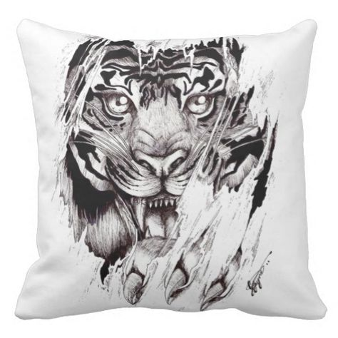 "Polyester cushion ""TIGER """