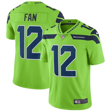 00a4d6b71 12 Fan Seattle Seahawks Nike Vapor Untouchable Color Rush Limited Player  Jersey - Neon Green