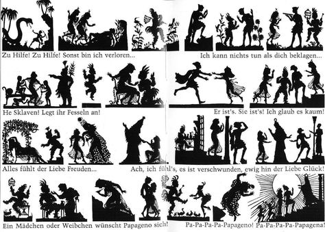 Shadow story board for Magic Flute