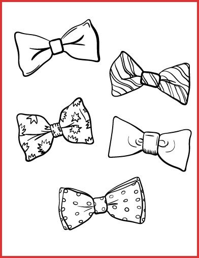 Bow Tie Colouring 162517 324 Best Coloring Pages At Coloringcafe Images On Pinterest In Bow Tie Tattoo Bow Tie Baby Shower Theme Birthday Coloring Pages