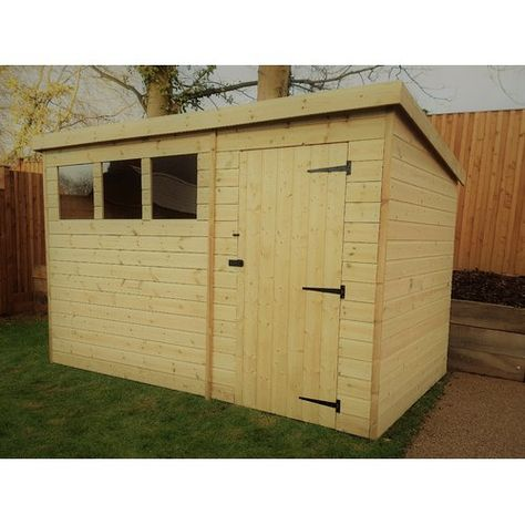 10 Ft W X 6 Ft D Tongue And Groove Pent Wooden Shed Empire Sheds Ltd Wooden Sheds Shed