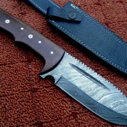 Hand Made 1095 Steel Skinner Hunting Knives Set With Burl Wood Rghuntingproducts On Artfire Knife Hunting Knife Set Damascus Steel