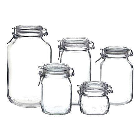 Bormioli Rocco Fido Hermetic 5 Piece Jar Set Review With Images Bormioli Rocco Glass Storage Jars Glass Canister Set
