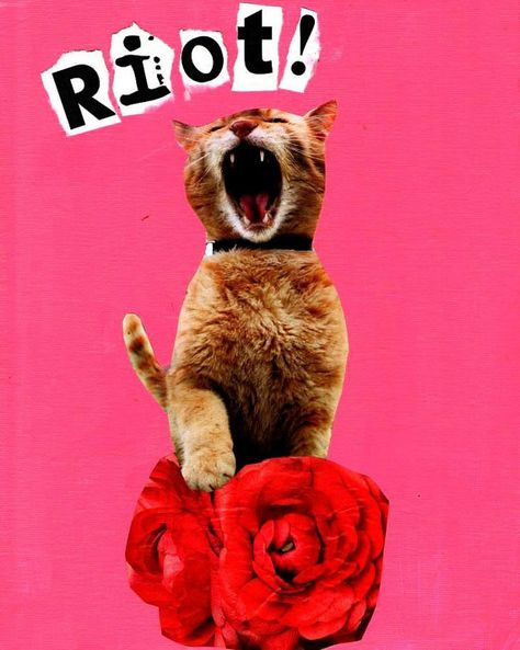 Riot Kitty by Jolie Noggle on Etsy, $10.00