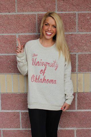 4ef5b00afd6 ... University of Oklahoma script champ sweatshirt Lush Fashion Lounge ou  sooners best cheap dd89e d8163 ...