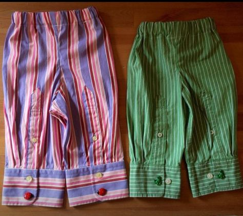 Adorable up cycles kids pants! Made out of men's dress shirts! Find them on Makers gonna Make Facebook page.