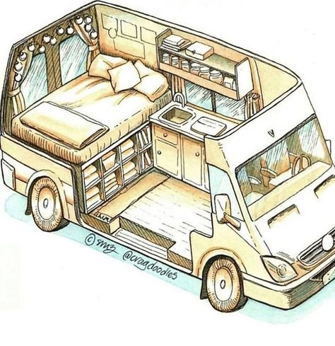 Connect with the van life community on our forum. Ask questions, engage, interact discuss, and unite with fellow nomadic!You Must Know About Minivan Camper Conversion - Vanlife & Caravan RenovationND - I like this style for a van sketch - PhotopinJust bec Bus Life, Camper Life, Rv Campers, Diy Van Camper, Convert Van To Camper, Vw Camper Vans, Tiny Camper, Teardrop Campers, Life Car