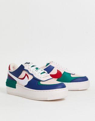 Nike - Air Force 1 Shadow - Baskets - Bleu marine et rose ...
