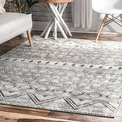 Union Rustic Lidiaidia Grey Area Rug Rug Size Rectangle 4 X 6 Area Rugs Grey Rugs Rugs