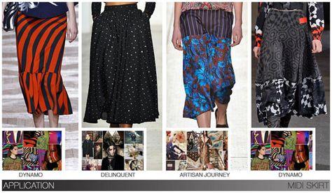 Women's key items fw 2015-16, Midi Skirt