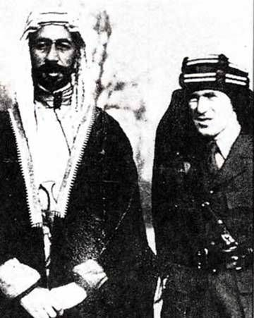 Pictures from the Syrian History صور من تاريخ سوريا Syria Today Toronto Canada Prince Faisal and T.E. Lawrence aka Lawrence of Arabia