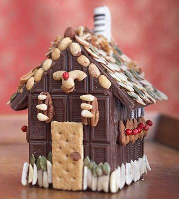 This Confetti Cookie Gingerbread House Is Everything We Need Chocolate Candy Bar Chocolate House Gingerbread House