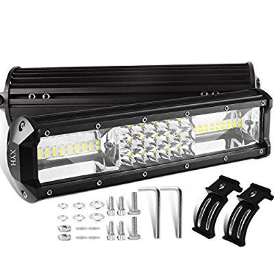 Amazon Com Xyh Led Light Bar 12 Inch 162w Led Work Light Off Road 54led Tri Row Driving Lights For Jeep Rzr Atv Utv Led Work Light Bar Lighting Led Light Bars