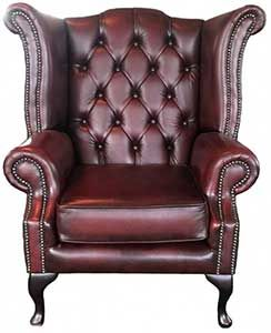 Chesterfield Queen Anne Armchair Perfect For Your Den Office Or