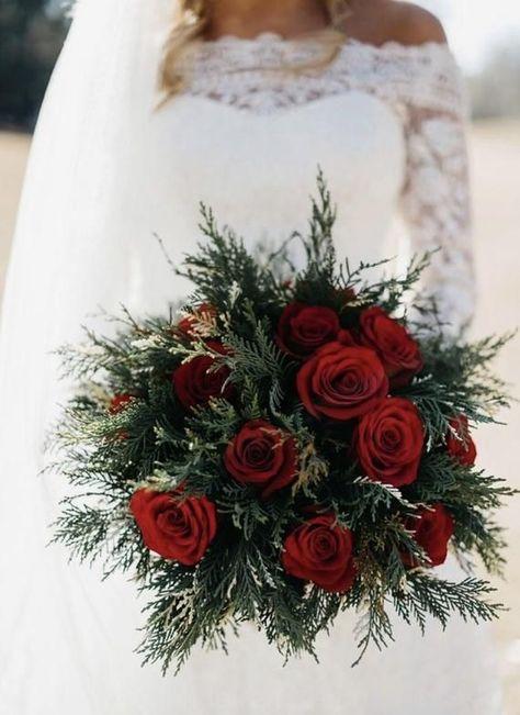 Bouquet Da Sposa Rosso.Inverno Bouquet Da Sposa Rosso Bouquet Bouquet Da Sposa