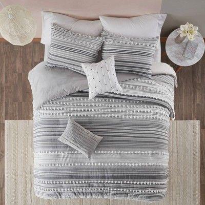 Corey King California King 5pc Cotton Duvet Cover Set Gray Grey Comforter Sets King Duvet Cover Sets Duvet Cover Sets California king duvet cover size