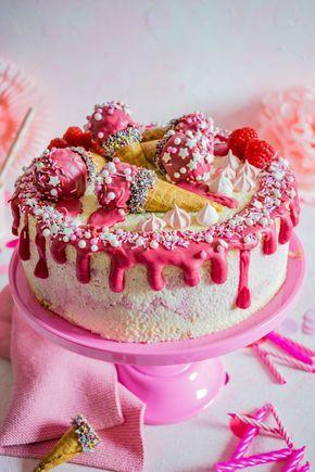 Himbeer Quark Geburtstagstorte Himbeer Quark Geburtstag Kuchen