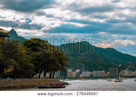 Rio De Janeiro Brazil January 04 2019 Praia Da Urca Beach At