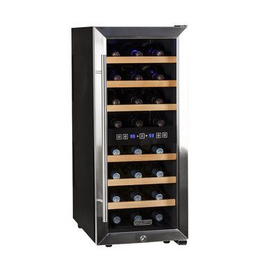 Koldfront 24 Bottle Dual Zone Freestanding Wine Refrigerator In 2020 Dual Zone Wine Cooler Best Wine Coolers Wine Cooler