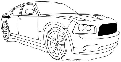 Dodge Charger Coloring Pages 01 | Coloring Pages | Cars coloring ...