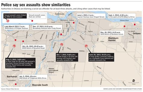 Graphic: Police say sex assaults show similarities