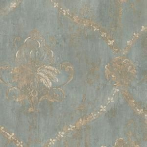 Norwall Regal Damask Vinyl Roll Wallpaper Covers 56 Sq Ft Ch28248 The Home Depot Damask Wallpaper Turquoise Wallpaper Wallpaper Accent Wall