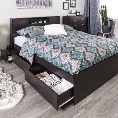 Ruti Bed With Storage Espresso Espresso Bedroom Furniture Bed