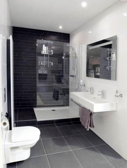 33 Ideas Bath Room Minimalist Modern Black White For 2019 Bathroom Layout Small Bathroom Modern Bathroom