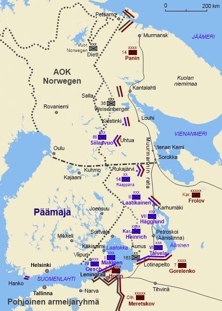 Rintamatilanne Joulukuussa 1941 Wwii Maps War Soviet Troops