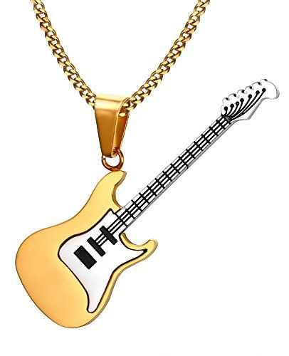 collier homme guitare