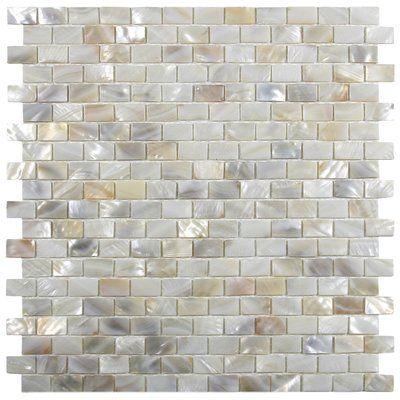 Cnktile Atlantic 1 X 2 Seashell Mosaic Tile In Cream Wayfair In 2020 Shell Tiles Pearl Tile Shell Mosaic Tile
